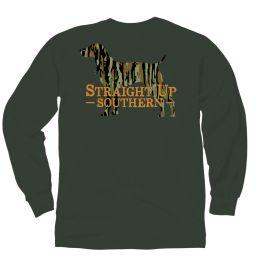 Straight Up Southern Camo Dog Long Sleeve T-Shirt
