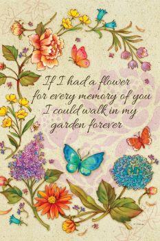 If I Had A Flower Garden Flag