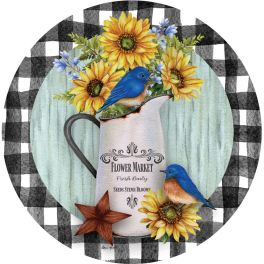 Blueberries & Sunflowers Stepping Stone