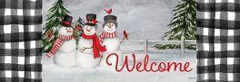 Snowman Trio Signature Sign