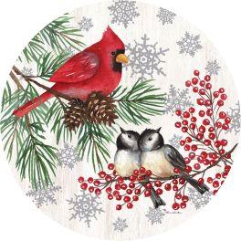 Winter Birds Accent Magnet