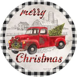 Christmas Truck Accent Magnet