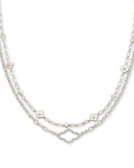 Kendra Scott Abbie Multi Strand Necklace In Silver