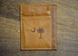 Tan Slim Front Pocket Palmetto Wallet