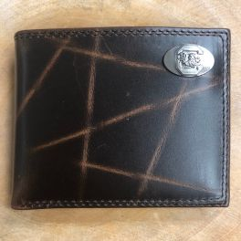 USC Brown Passcase Wrinkle Wallet