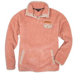 Simply Southern Peach Sherpa Pullover - YOUTH