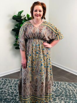 Gracefully Yours Dress - Taupe