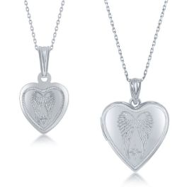 Sterling Silver 2pc Mother & Daughter Necklace Set