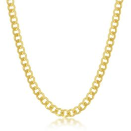"""Sterling Silver Gold Plated 4.5mm Cuban Chain - 18"""""""