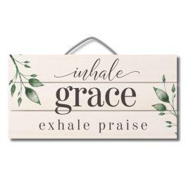 """Inhale Grace Pallet Sign - 12"""" x 6"""""""