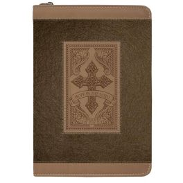 Brown Cross Hope In The Lord Zippered Journal