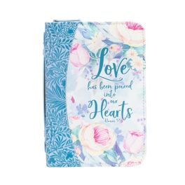 Blue Floral Love Into Hearts Bible Journal