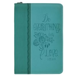 Teal Floral Everything In Love Bible Journal