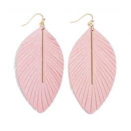 Swept Away Earrings - Light Pink