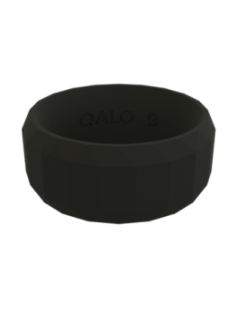 Qalo Men's Faceted Silicone Band - Black