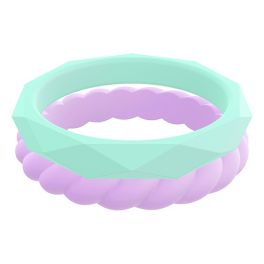 Qalo Women's Stackable Bands - Spring Blossom
