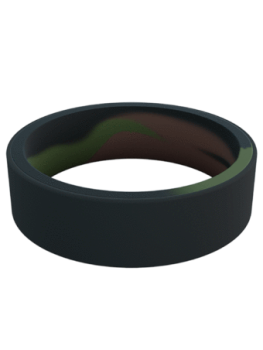 Qalo Men's Switch Reversible Silicone Band - Camo/Black