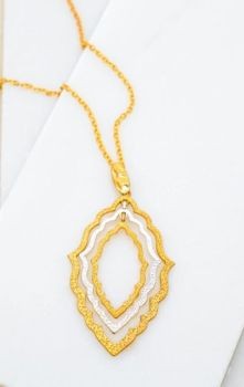 Focus On The Good Necklace - Gold/Silver