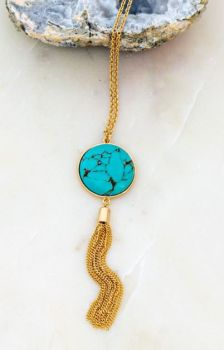 Feel So Free Necklace - Turquoise