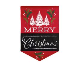 Merry Christmas Garden Burlap Flag
