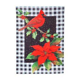 Cardinal & Holly Garden Flag