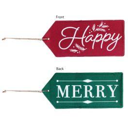 Merry Happy Reversible Door Tag
