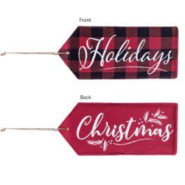 Christmas Holidays Reversible Door Tag