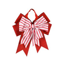 Candy Stripe Door Tag Bow