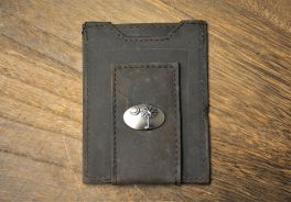 Brown Front Pocket Palmetto Wallet