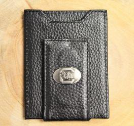 USC Black Leather Front Pocket Wallet