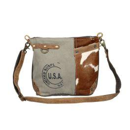 Myra USA Stamp Hairon Pocket Shoulder Bag