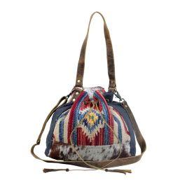 Myra Blue Bucket Bag