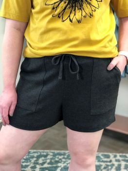 Relax And Unwind Shorts - Charcoal