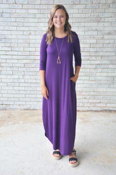 Next To You Maxi Dress - Dark Purple