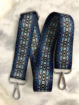 Adjustable Guitar Strap - Blue/Black