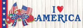 Flag Wreath Signature Sign
