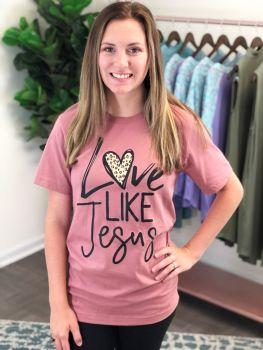 Love Like Jesus Tee - Mauve