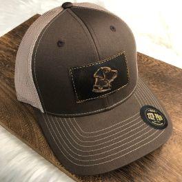 Men's Lab Trucker Hat - Brown/Khaki