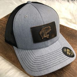 Men's Bass Trucker Hat - Heather Grey/Black