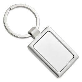 Polished And Satin Key Ring