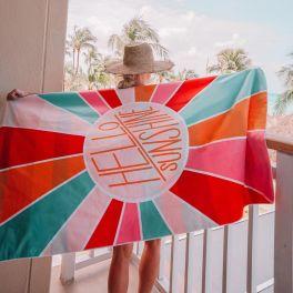 Hello Sunshine Quick Dry Beach Towel