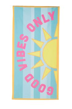 Good Vibes Only Quick Dry Beach Towel