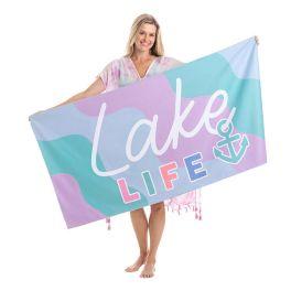 Lake Life Quick Dry Beach Towel