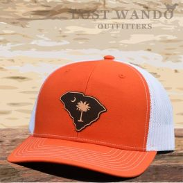 SC Outline Etched Hat - Orange & White