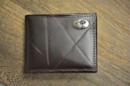 Brown Wrinkle Passcase Palmetto Wallet