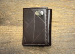 Brown Wrinkle Trifold Palmetto Wallet