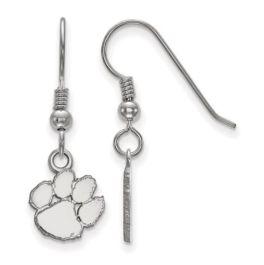 Sterling Silver Clemson University XS Dangle Earrings