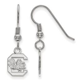 Sterling Silver University Of South Carolina XS Dangle Earrings