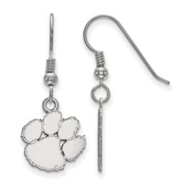 Sterling Silver Clemson University Small Dangle Earrings