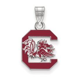 Sterling Silver University Of South Carolina Medium Enamel Pendant